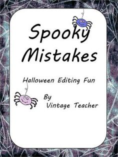 Spooky+Mistakes+from+VintageTeacher+on+TeachersNotebook.com+-++(1+page)+