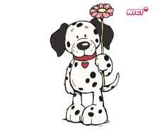 Wandtattoo Love dog Animal Paintings, Animal Drawings, Cute Drawings, Pictures To Draw, Dog Pictures, Baby Animals, Cute Animals, Alice In Wonderland Decorations, Best Friend Drawings