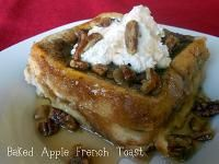 Six Sisters Baked Apple Pie French Toast Recipe.