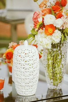 Orange Summer Wedding Wedding Real Weddings Photos on WeddingWire