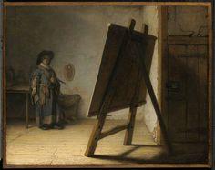 """Rembrandt van Rijn, """"Artist in his Studio,"""" ca. 1628."""