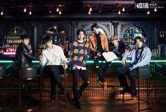 """ B.A.P 2nd full album (Group Teaser Image) #BAP #NOIR #WhoIsX """