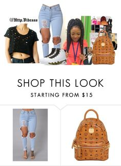 """Untitled #697"" by jazaiah7 ❤ liked on Polyvore featuring NIKE and MCM"