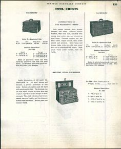 1934 Ad Oak Wood Wooden Machinists' Tool Box Boxes Kennedy Steel