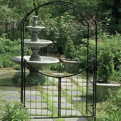Found it at Wayfair - Metal Arbor with Gate