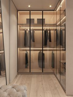 52 Popular Wardrobe Design Ideas In Your Bedroom. The most essential and important aspect of your bedroom includes your bed and bedroom wardrobe. Wardrobes give you extra storage capacity in your room. Walk In Closet Design, Bedroom Closet Design, Wardrobe Design, Home Room Design, Closet Designs, Home Interior Design, Interior Architecture, Luxury Wardrobe, Luxury Closet