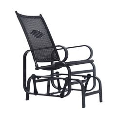 Outsunny Outdoor Antique Aluminum Wicker Gliding Chair - Black. Classic look mixed with modern design gives this glider the best of both worlds. Weather-resistant rattan and durable aluminum combine for lasting appeal. Elegant scroll design adds a unique and inviting look to an already comfortable product. Perfect for any outdoor space including backyards, patios, gardens, porches and more. Assembly required.