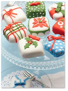 """Just Enough"" Tiny Holiday Cakes"