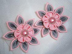 Handmade Kanzashi ladies girls hair clips  by MARIASFLOWERPOWER, £5.50