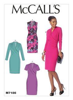 McCalls 7244 Misses Dresses Sewing Pattern Sz 14-22