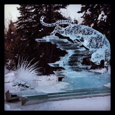 Ice sculptures in Fairbanks Alaska (: