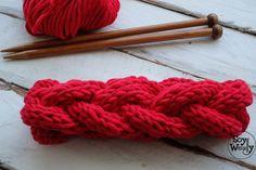 Cómo tejer una Diadema o Cinta trenzada en dos agujas | Soy Woolly Knots, Knitting, Sewing, Diy, Outfits, Vestidos, Shape, Projects, Braids With Weave