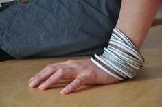 A #diy bracelet set made from upcycled cans!  from #weupcycle