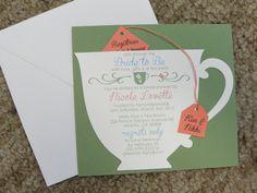 tea party invitations so cute.