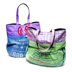 Market Bag with Pleats -Carry your groceries in a bag that eliminates the need for plastic bags and supports landmine and polio victims in Cambodia with a living wage!