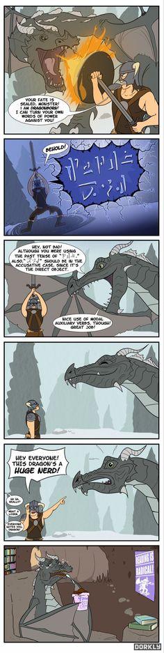 Skyrim Dragons Are Grammar Nerds