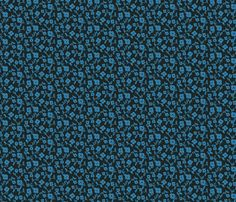 flowers in blue fabric by limegreenpalace on Spoonflower - custom fabric
