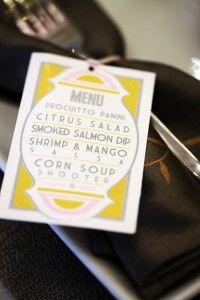 Wedding menu - awesome idea