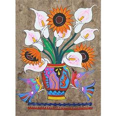 Papel Amate, or painted bark paper, is an art form with clear pre-Hispanic…