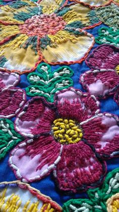 Grand Sewing Embroidery Designs At Home Ideas. Beauteous Finished Sewing Embroidery Designs At Home Ideas. Crewel Embroidery, Vintage Embroidery, Embroidery Applique, Cross Stitch Embroidery, Embroidery Patterns, Machine Embroidery, Sewing Art, Embroidery Techniques, Fabric Art