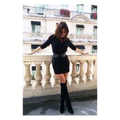 Boots in love Highland Boots, Julia Restoin Roitfeld, Stuart Weitzman, Leather Skirt, Street Style, Style Inspiration, Paris Fashion, Fashion Boots, Skirts