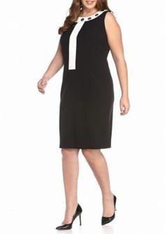 Nine West  Plus Size Woven Sleeveless Dress