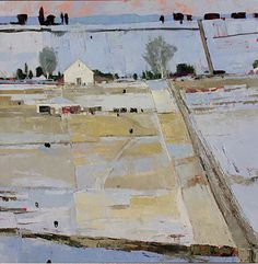 """History Of A Field by Dinah Worman Oil ~ 48"""" x 48"""""""