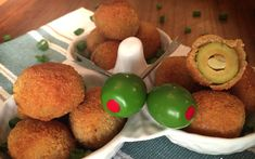 Fried Olives Stuffed With Garlic [Vegan] | One Green Planet
