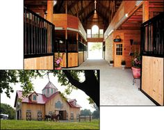 stables - If I ever win the lottery I'm going to get back into show horses and build this barn.  :)