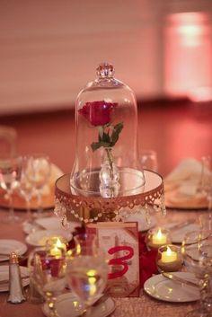 decoração para casamento a bela e a fera