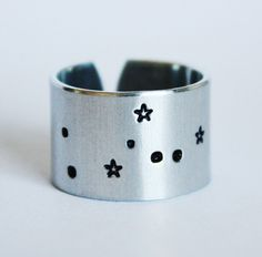 Have a piece of the cosmos with you always while wearing this Taurus constellation ring. A subtle reminder of your connection to the stars or a sweet