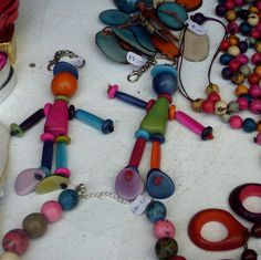 Too complicated for us to copy exactly, this is just for inspiration. Bead People by Caro's Lines, via Flickr