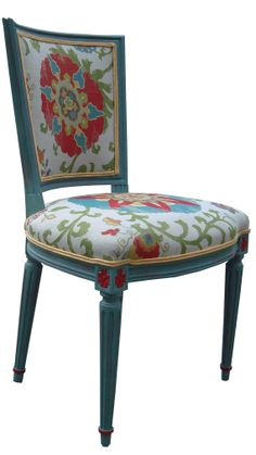Distressed Country French Painted Side Chairs / Vintage Set of 2 by Spaces1020, $1250.00