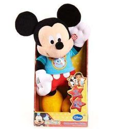 Mickey Mouse Plush Plays Hot Diggity Dog Song & 4 Fun Clubhouse Phrases Disney #Disney