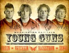 "The ""Young Guns"" of the CAPITALS!!!  #NHL #Hockey #Capitals #CAPS #RockthRED #Ovechkin #Backstrom #Green #Semin"