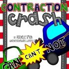 This packet is perfect to teach your students in a visual way all about contractions! Did you know that two words *CRASH* into each other to make a...