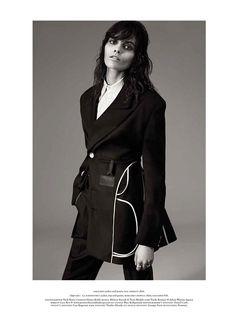 Melissa Stasiuk Dons Menswear Inspired Style for Russh December/January