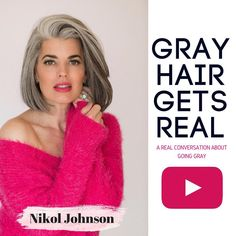 I get so many questions, emails and comments on my gray hair that I wanted to make a video on a REAL conversation about gray hair find out how I really feel. Check it out on my YouTube Channel {link in bio} And YES!!! I am obsessed with my jacket in the video that I am wearing obvi ———————- #grayhair #greyhair #silverhair #real #realconversation #ageisjustanumber #beautyexpert #bblogger #beautyblogger #fortlauderdalemakeupartist #fortlauderdalemua #permanentmakeupfortlauderdale