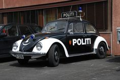 Norwegian Old VW Beetle police @ norway_medic