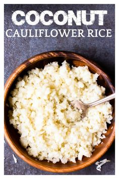 Creamy Coconut Cauliflower Rice is a healthy low carb, keto friendly side dish recipe that is bursting with coconut flavor. This easy recipe is made using only 4 ingredients in just 15 minutes. Pasta Side Dishes, Vegan Side Dishes, Low Carb Side Dishes, Vegetable Side Dishes, Vegetable Recipes, Vegetarian Recipes, Keto Recipes, Healthy Recipes, Healthy Foods