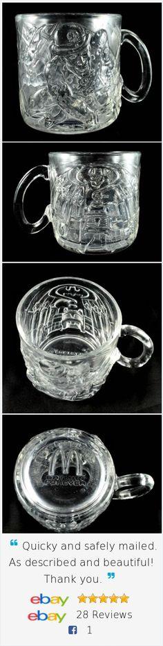 McDonald's Mug 1995 Batman Forever Collectible Glass Riddler
