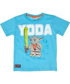 LEGO Yoda turquoise t-shirt met felgroen zwaard. lego-wear.nl.emilea.be