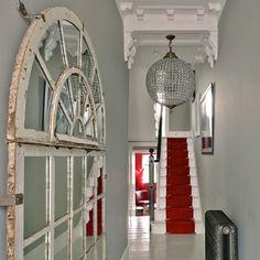 Ideas for small hallways and stairs glamorous small narrow hallway decorating ideas small hallways stairs . Hallway Carpet, Hallway Walls, Carpet Stairs, Hallway Mirror, White Hallway, Hallway Decorating, Entryway Decor, Foyer, Decor Interior Design
