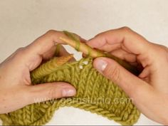 DROPS knitting tutorial: How to knit into 2 yarn over