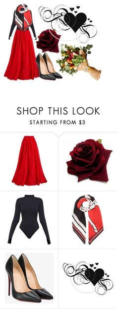 """Bold Red"" by azura123 ❤ liked on Polyvore featuring Reem Acra, Ivy Park, Givenchy and Christian Louboutin"