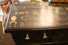 Tattered Butterfly Design: Typography French Inspired Dresser