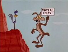 While growing up I loved to watch The Roadrunner and Wile E. Coyote!