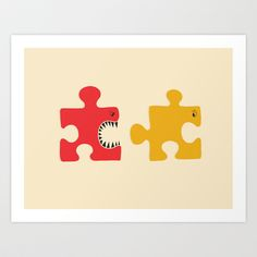 Puzzle Monster Art Print by Adil Siddiqui (addu) - $15.00