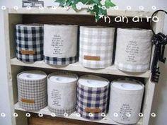 可愛い柄の紙や布を見つけたら、トイレットペーパーカバーを作ってみましょう。一気に、トイレがお洒落な空間に変身しますよ。