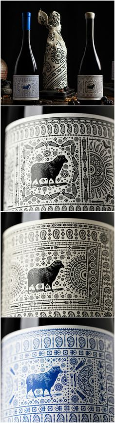 Truly Stunning Modern Packaging Design, Encapsulating Georgian Traditions Design Agency: Voice Project Name: Hugh Hamilton Wines, The Exoctica Collection Category: #wine #drink